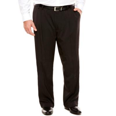 Men's Van Heusen Traveler Stretch Pleated Straight-Leg Dress Pant- Big and Tall