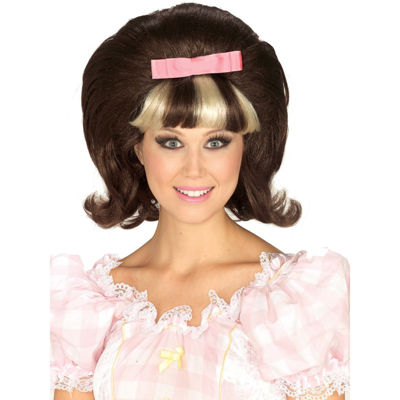 60's Princess Brown/Blonde Combo Wig - One Size