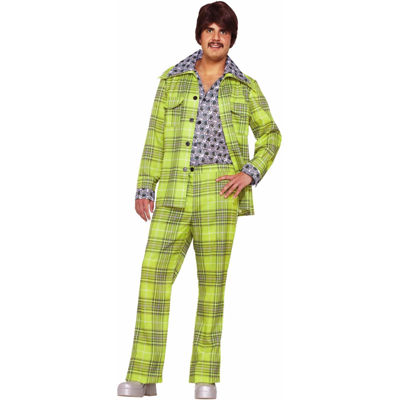 Buyseasons 70s Plaid Leisure Suit Adult Costume
