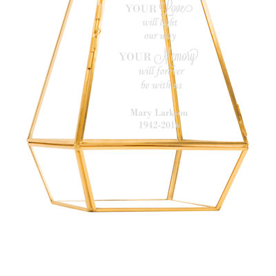 Cathy's Concepts Personalized Gold Memorial Lantern