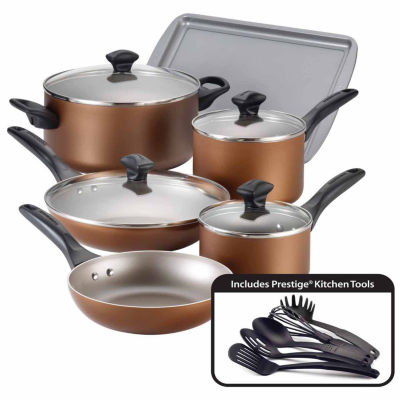 Farberware 15-pc. Dishwasher Safe Nonstick Aluminum Cookware Set