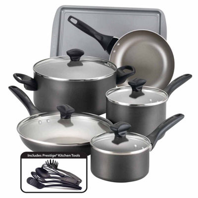 Farberware 15-pc. Dishwasher Safe Nonstick Aluminum  Cookware Set