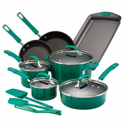 Rachael Ray Hard Porcelain Enamel 14-pc. Nonstick Cookware Set