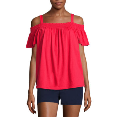 City Streets Off the Shoulder Top Womens
