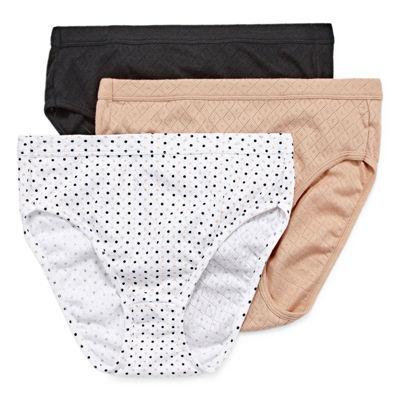 Jockey Elance® Breathe 3 Pack Knit High Cut Panty 1541