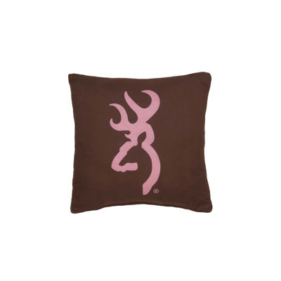 Browning Buckmark Pink Throw Pillow