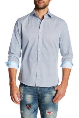 TR Premium Jacquard Light Blue Contrast Slim Fit Dress Shirts