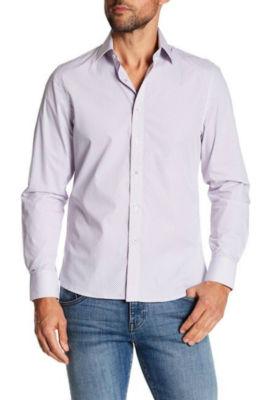 TR Premium Jacquard Purple Contrast Slim Fit Dress Shirts