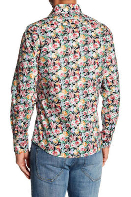 TR Premium Multi Floral Pattern Slim Fit Dress Shirt