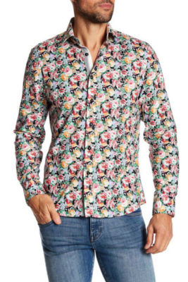 TR Premium Multi Floral Pattern Slim Fit Dress Shirts