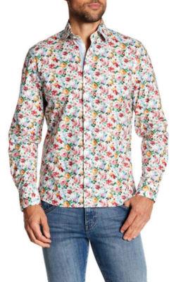 TR Premium Light Floral Pattern Slim Fit Dress Shirt