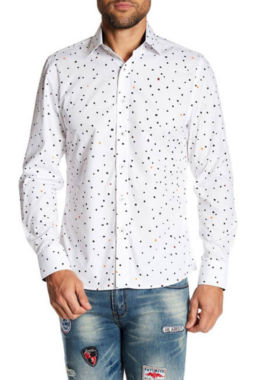 TR Premium Multi Color Polka Dot Slim Fit Dress Shirts