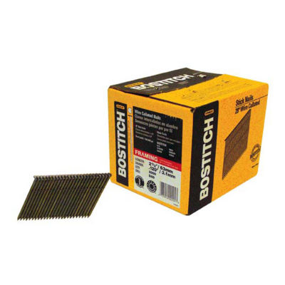"Bostitch Stanley S8DR-FH 2-3/8"" X .120"" X 28"" Wire Weld Full Round Head Stick Framing Nails 2000 Count"