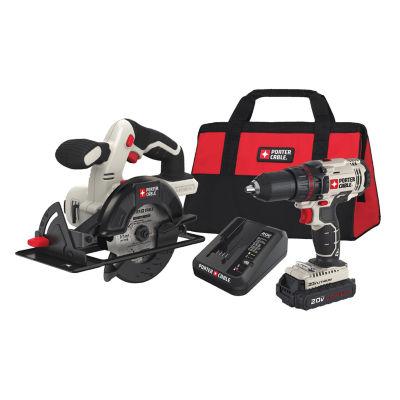 "Black & Decker Power Tools PCCK612L2 20V MAX 1/2""Drill/Driver And 5-1/2"" Circular Saw Kit"