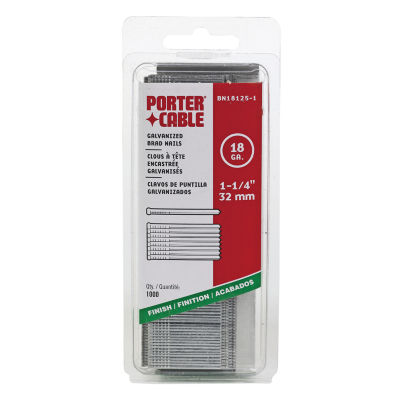 """Porter Cable PBN18125-1 1-1/4"""" 18 Gauge Brad Nails1000 Count"""