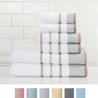 Noelle Collection 6 Piece Turkish Towel Set