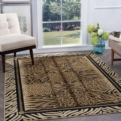 Tayse Festival Savannah Rectangular Indoor Area Rug