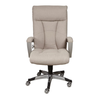 Sealy Posturpedic Sandstone Fabric Cool Foam Office Chair