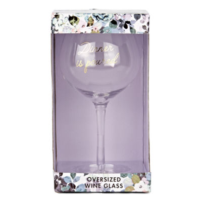 Mixit Floral Wine Glass