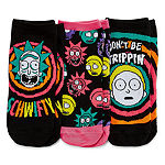 Rick N Morty 3 Pair Low Cut Socks - Womens