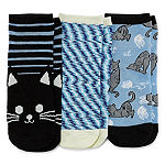 3 Pair Low Cut Socks Womens