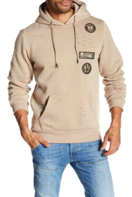 TR Premium Mens Fashion Fleece Ripped Hoodie