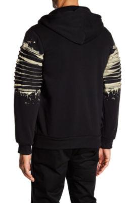 TR Premium Mens Fashion Fleece Paint Splatter Hoodie