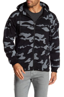 TR Premium Mens Fashion Fleece Camo Hoodie