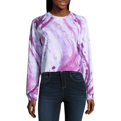 Marbled Cropped Tee - Juniors