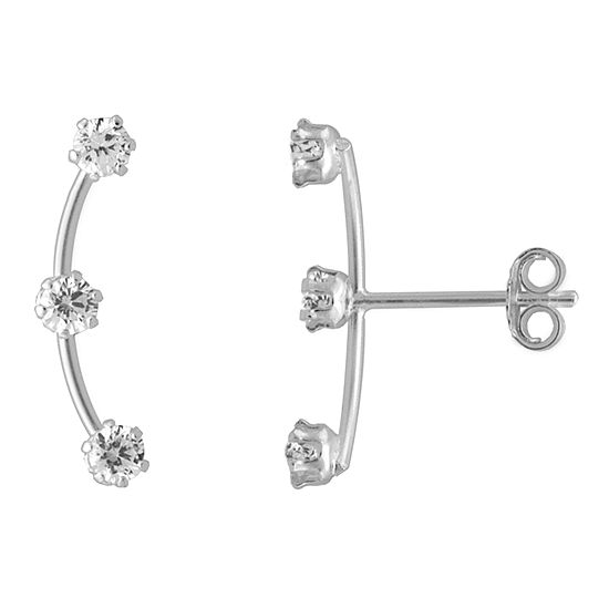 Itsy Bitsy Cubic Zirconia 3/4 Inch Stud Earrings
