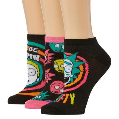 Rick N Morty 3 Pair Low Cut Socks - Womens