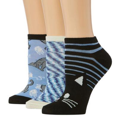 3 Pair Low Cut Socks - Womens