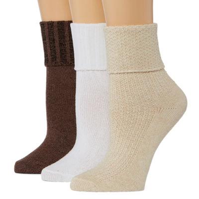 Mixit 3-pc. Turncuff Socks - Womens