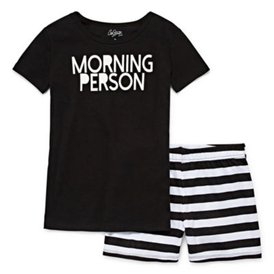 City Streets 2pc Shorts Pajama Set Girls