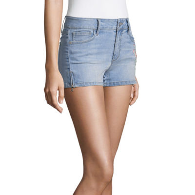 "People Need Kindness 2 1/2"" Denim Shorts-Juniors"
