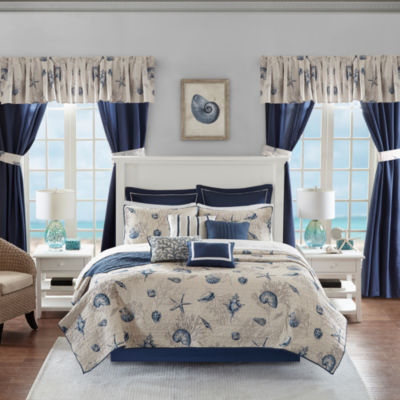 Madison Park Essentials Westport 24-pc. Complete Coverlet Set with Sheets