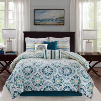 Madison Park Delta 7-pc. Reversible Cotton Comforter Set