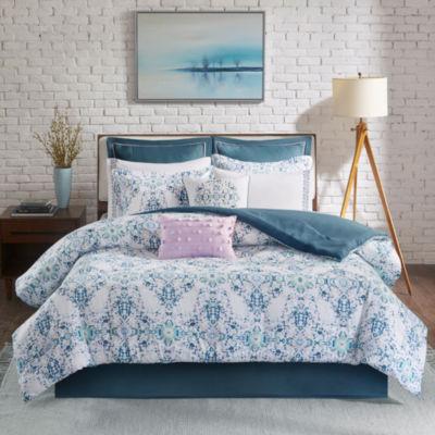 Madison Park Erica 10-pc. Cotton Printed Comforter Set