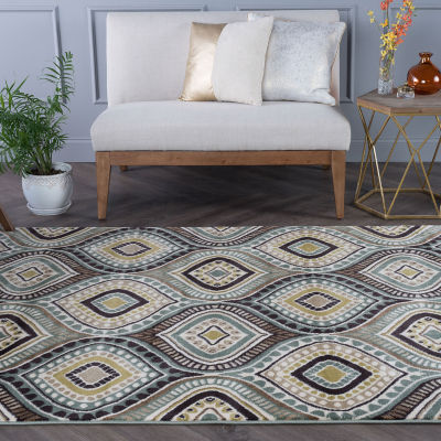 Tayse Capri Aurora Rectangular Indoor Accent Rug