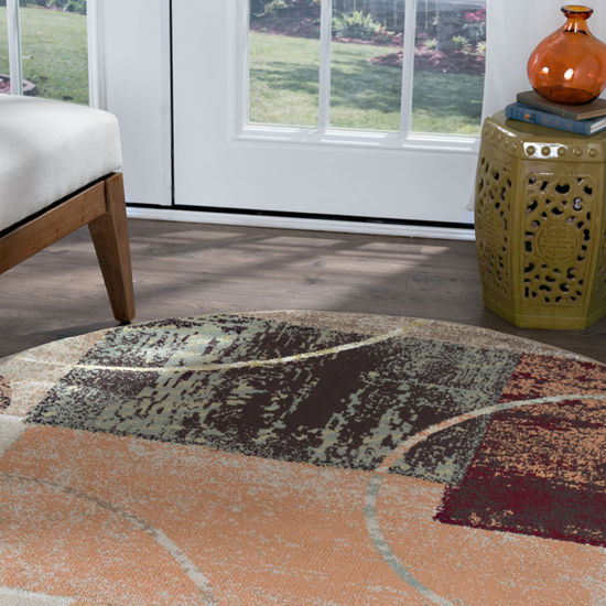 Tayse Deco Conner Round Area Rug
