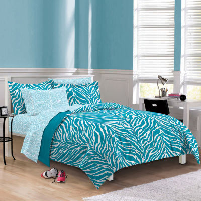 My Room Zebra Complete Bedding Set with Sheets