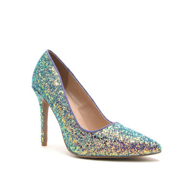 Qupid Milia-97 Womens Pumps Slip-on Pointed Toe Stiletto Heel