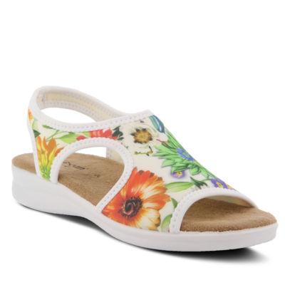 Flexus Womens Nyaman-Bouquet Flat Sandals
