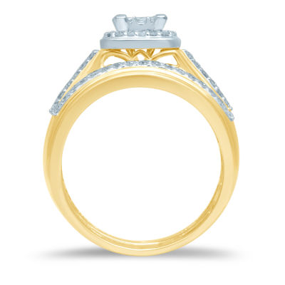 Womens 5/8 CT. T.W. Genuine White Diamond Bridal Set