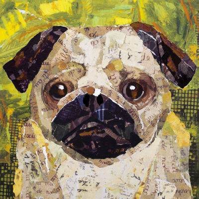 Art Dog Pug Canvas Art