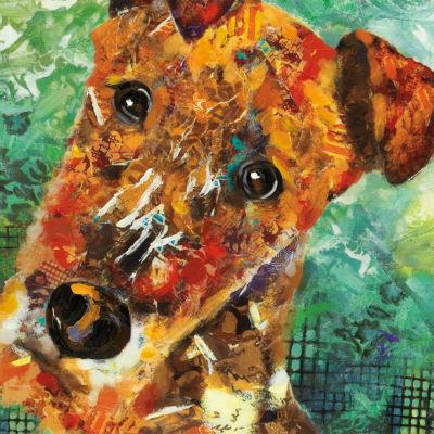 Art Dog Terrier Canvas Art