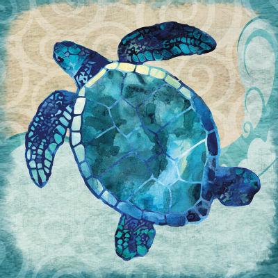 Blues Sea Turtle Canvas Art
