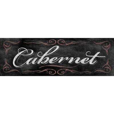 Chalkboard Cabernet Canvas Art