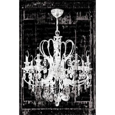 Chandelier 3 In Black Canvas Art