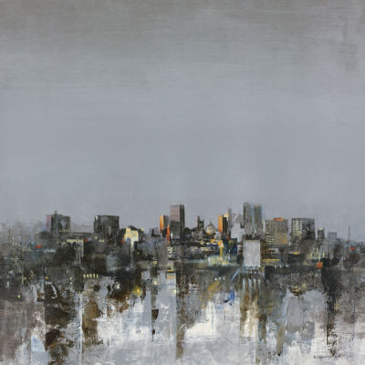 City Trance II Canvas Art